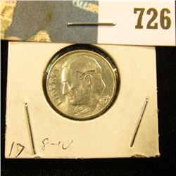 1953 S Roosevelt Dime, Brilliant Uncirculated.