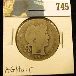 1897 S Barber Half Dollar, AG/Fair.