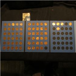 1975-2005 Partial Set of Lincoln Cents in a blue Whitman folder. Many BU in this group.