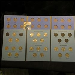 1999-2001 Partial Set of Statehood Quarters in a blue Whitman folder. Contains $5.75 face value; & a