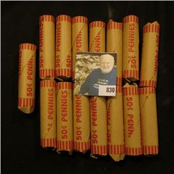 """(15) Bank-wrapped Rolls of what appears to be circulated U.S. """"Wheat"""" Cents, I never opened all the"""
