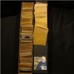 """12"""" Two by Two Stock box full of 1952-55 High grade Lincoln Cents in manilla envelopes."""