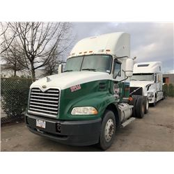 2007 MACK TRUCK TRACTOR, GREEN, DIESEL, MANUAL, VIN#1M1AK07Y77N016185, 718,517KMS, RD,CD, NO ICBC