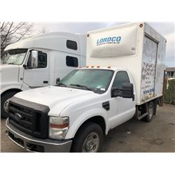 2009 FORD F350 SUPERDUTY, V8, WHITE, GAS, AUTOMATIC, VIN#1FDDF345X9EB11318, 404,244KMS, RD, LOW