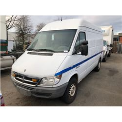 2006 DODGE SPRINTER VAN, WHITE, DIESEL, AUTOMATIC, VIN #WD0BD644X65955419, 140,249KMS, PL,CR, 1