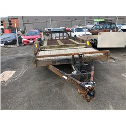 2006 TRAILERMAN EQUIPMENT TRAILER 16'DECK RUSTY FRAME