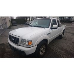 2008 FORD RANGER, WHITE, PICKUP, GAS, AUTOMATIC, VIN#1FTZR45E08PA67094, 189,928KMS,
