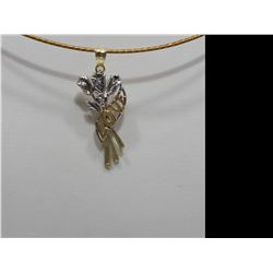 10KT GOLD (LOVE PENDANT ON A HIGH FASHION CORD) RETAIL $400