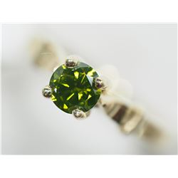 10KT GOLD GREEN DIAMOND (0.50CT) RING MADE IN CANADA APPRAISED VALUE $3750