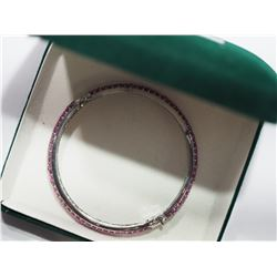 STERLING SILVER BRACELET WITH GENUINE RUBIES(10CT) RETAIL VALUE $1000