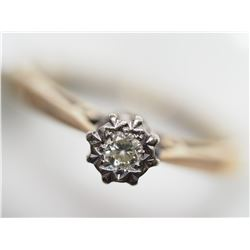 10KT GOLD SOLITAIRE DIAMOND(0.18CT) RING RETAIL $1400