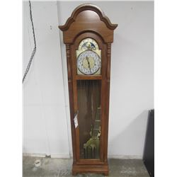 "RIDGEWAY GRAND FATHER CLOCK 18.5""W X 11""D X 62""H"