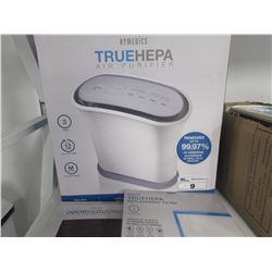 HOMEDICS TRUEHEPA AIR PURIFIER WITH TWO REPLACEMENT FILTERS