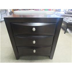 "3 DRAWER NIGHT STAND 24.75""W X 16.5""D X 27.5""H"