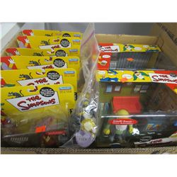 8 INTELLI-TRONIC SIMPSONS COLLECTIBLE FIGURINES SETS & BAG OF LOOSE FIGURINES