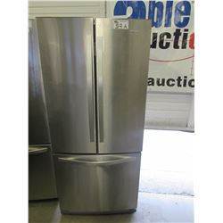"WHIRLPOOL STAINLESS STEEL FRIDGE WITH ROLL OUT FREEZER MODEL WRF560SFYM05 (30""W X 34""D X 68.5""H)"