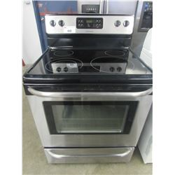 "FRIGIDAIRE STAINLESS & BLACK CERAMIC TOP STOVE WITH SELF CLEAN (30""W X 29""D X 47.5""H)"
