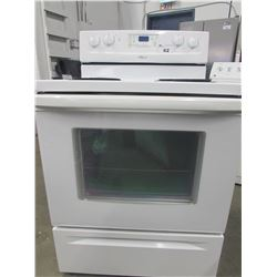 "WHITE WHIRLPOOL 4 BURNER STOVE WITH SELF CLEAN (30""W X 27""D X 47""H)"