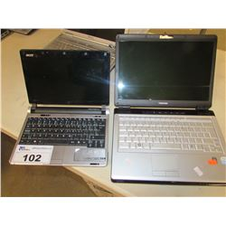 TOSHIBA & ACER ASPIRE LAPTOP/NETBOOK (NO CHARGER - WORKING UNKNOWN)