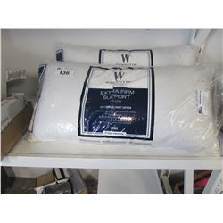 2 WAMSUTTA EXTRA FIRM SUPPORT KING SIZE PILLOWS