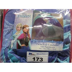 DISNEY FROZEN TWIN FULL COMFORTER WITH PLUSH REVERSE