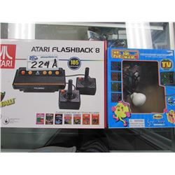 ATARI FLASHBACK 105 BUILT IN GAMES/MS PAC-MAN PLUG 'N PLAY GAME