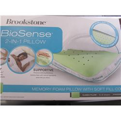 BROOKSTONE BIOSENSE 2-IN-1 CLASSIC PILLOW