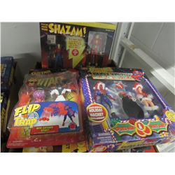 SPIDERMAN HOLIDAY SPECIAL/SPIDER MAN FIGURINE/MR MIRACLE & BIG BARDA/LOBO CYCLE & DOG/SHAZAM DELUXE