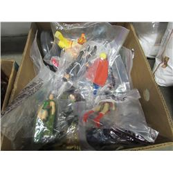 BOX LOT OF ASSORTED BAGGED LOOSE FIGURINES