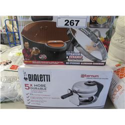 GOTHAM PASTA POT/BIALETTI CERAMIC COATED ROTATING BELGIAN WAFFLE MAKER