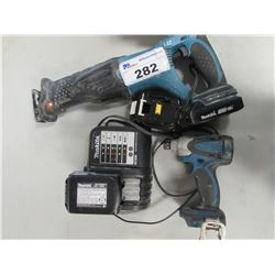 MAKITA SAWZALL/MAKITA CHARGER & BATTERIES