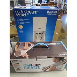 SODA STREAM SOURCE SPARKLING WATER MAKER/HOMEDICS QUAD ACTION SHIATSU