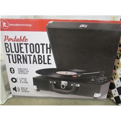 PORTABLE BLUETOOTH TURNTABLE