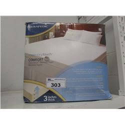 "THERAPEDIC 3"" THICK MEMORY FOAM MATTRESS TOPPER"