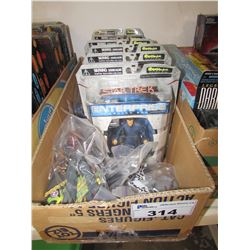 6 STAR TREK ENTERPRISE FIGURINES/BAGS OF LOOSE FIGURINES