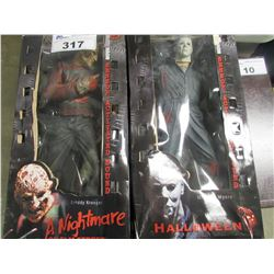 "FREDDY KRUEGER & MICHAEL MYERS 18"" COLLECTIBLE FIGURES"