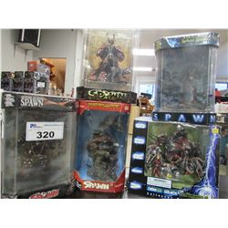 5 SPAWN SERIES COLLECTIBLE FIGURINES