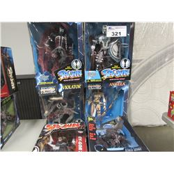6 SPAWN SERIES COLLECTIBLE FIGURINES