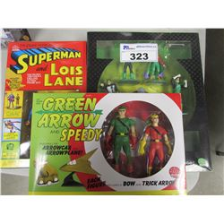 SUPERMAN & LOIS LANE/GREEN LANTERN/GREEN ARROW & SPEEDY ACTION FIGURE SETS