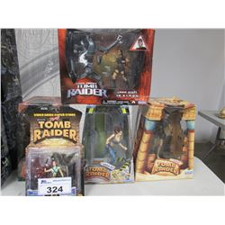 5 COLLECTIBLE TOMB RAIDER ACTION FIGURES