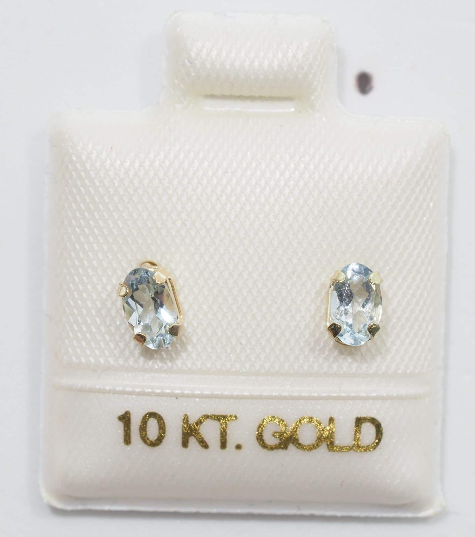 earrings gold retail image genuine auctions able aquamarine