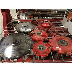 GROUP OF 11 ASSORTED MOULDER / SHAPER CUTTER HEADS