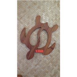 """Decorative Wooden Turtle Wall Décor, Approx. 21"""" L"""