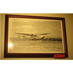 """Black & White Print: Boeing A-314 Transoceanic Clipper on Takeoff, 12.5"""" x 18"""""""