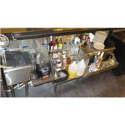 Bar Ice Bin, Drink Tray and Drain Board Ensemble (contents not included)