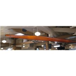 2-Person Wooden Canoe (Hanging from Ceiling) - Approx. 21 Ft Long