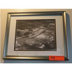 "Framed Black & White Photo Print: Ala Moana? 15"" x 12"""