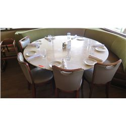 "Round Marble Table w/Round Base (67"" Dia.) w/4 Chairs"