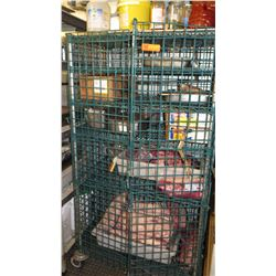 Lockable Rolling Security Cage for Liquor Storage