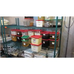 Green Wire Shelving Unit (Contents of shelf not included)